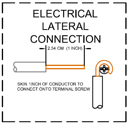 Electrical lateral connection